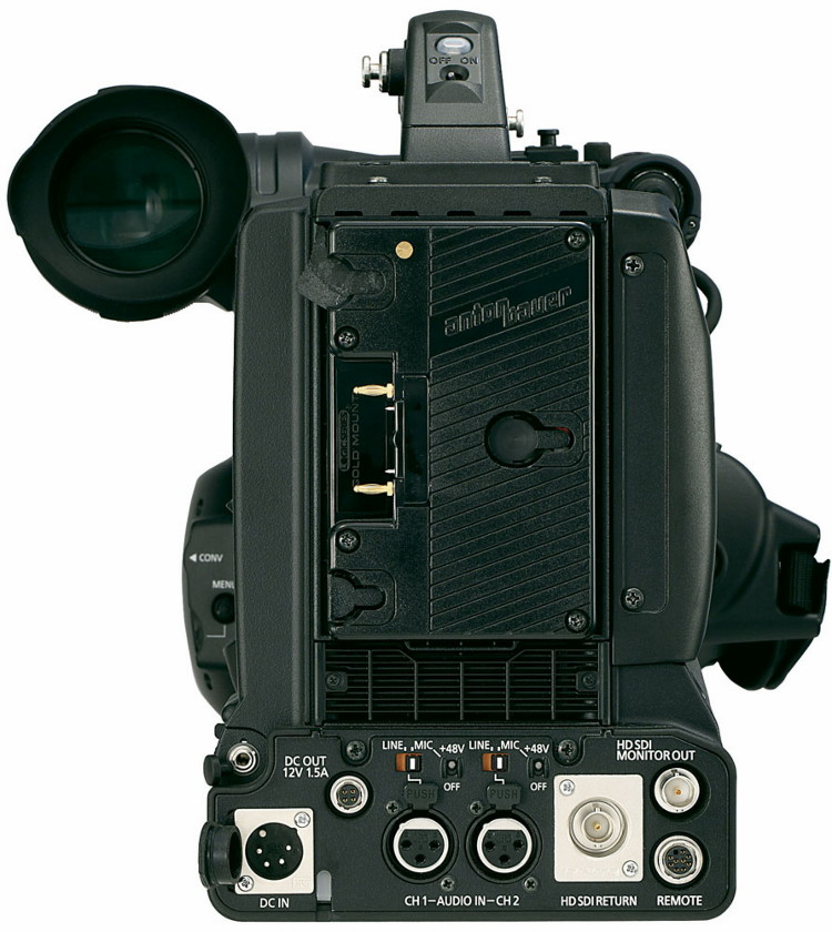 Камкордер Panasonic AG-3DP1G - вид  сзади