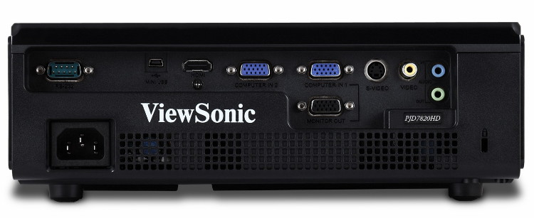 Проектор ViewSonic PJD7820HD - вид сзади