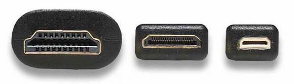 три типа разъемов HDMI